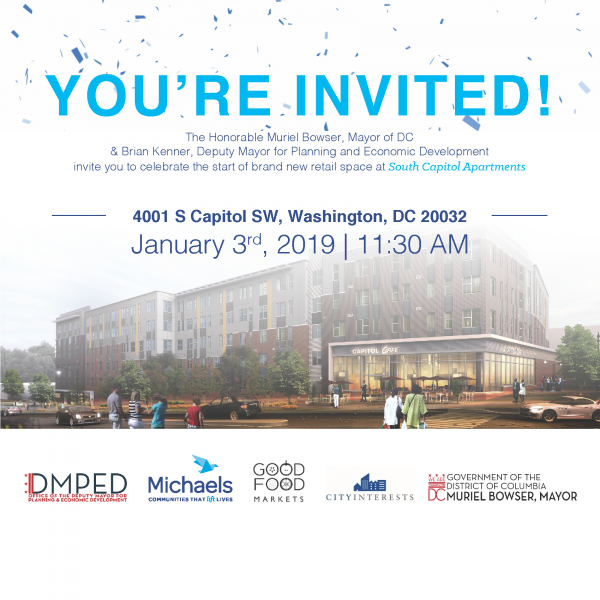 You're Invited! Groundbreaking For Good Food Markets In