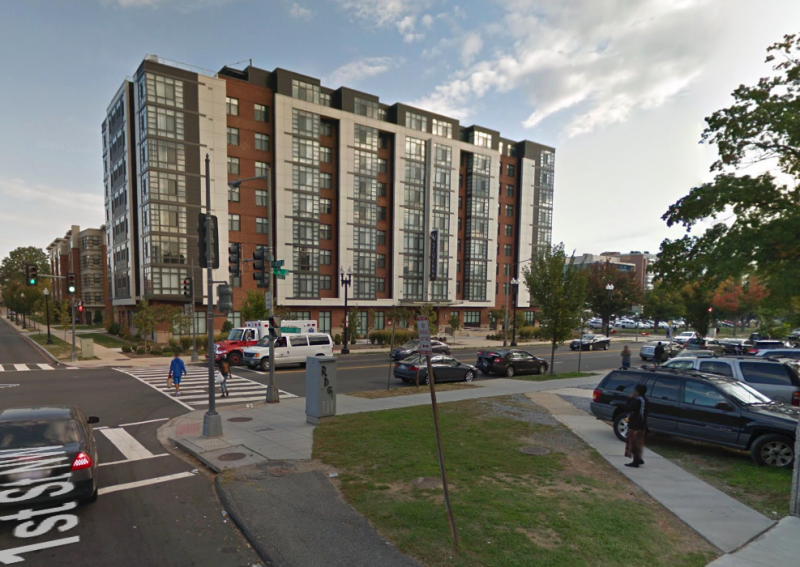 The SeVerna on K, a mixed-income development in the Northwest One site. Image by Google Maps