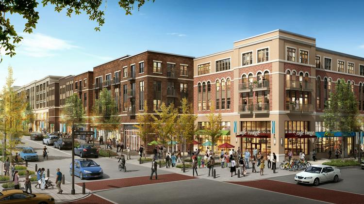 An internal view of the Skyland Town Center, as currently proposed by the development team.