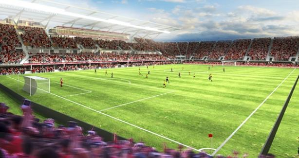 DC United Socccer Stadium rendering courtesy of Populous