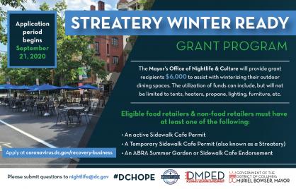 Streatery Winter Ready Grants
