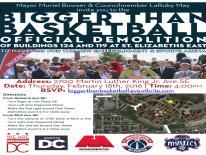 St. Elizabeths Demolition Event flyer