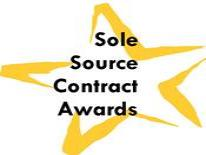 Sole Source Contract awards logo