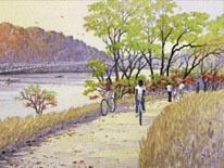 Illustration of the Anacostia Riverwalk