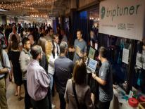 D.C. area start-ups showed off their products during a cocktail hour at the 1776 tech hub not long after the incubator opened in 2013.